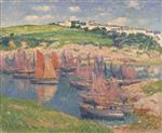Henry Moret  - Bilder Gemälde - Fishing Boats at Doëlan