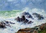 Henry Moret  - Bilder Gemälde - Heavy Weather at Saint Grenoble, point de Penmarc'h