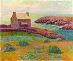 Henry Moret  - Bilder Gemälde - House on a Hill