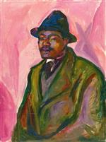 Edvard Munch - Bilder Gemälde - African in Green Coat