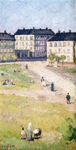 Edvard Munch - Bilder Gemälde - Afternoon at Olaf Rye's Square