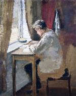 Edvard Munch - Bilder Gemälde - Andreas by the Window