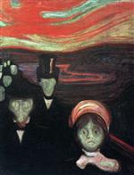 Edvard Munch - Bilder Gemälde - Anxiety