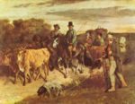 Gustave Courbet - paintings - The Peasants of Flagey Return from the Fair, Ornans