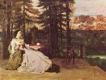 Gustave Courbet - paintings - The Lady of Frankfurt