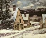 Gustave Courbet - paintings - Dorfausgang im Winter
