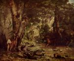 Gustave Courbet - paintings - Sherter of the Roe Deer at the Stream of Plaisir-Fontain, Doubs