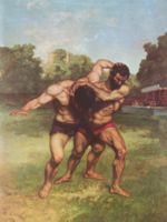 Gustave Courbet - paintings - The Wrestlers