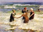 Edward Henry Potthast - Bilder Gemälde - A Happy Group