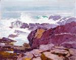 Edward Henry Potthast - Bilder Gemälde - A Rugged Coast