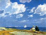 Edward Henry Potthast - Bilder Gemälde - Along the Shore