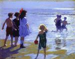 Edward Henry Potthast - Bilder Gemälde - At Low Tide