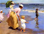 Edward Henry Potthast - Bilder Gemälde - At the Beach