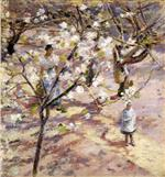 Theodore Robinson - Bilder Gemälde - Blossoms at Giverny