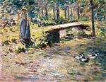 Theodore Robinson - Bilder Gemälde - By the Brook