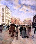 Theodore Robinson - Bilder Gemälde - Fifth Avenue at Madison Square