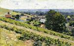 Theodore Robinson  - Bilder Gemälde - From the Hill, Giverny