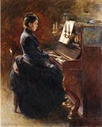 Theodore Robinson  - Bilder Gemälde - Girl at Piano