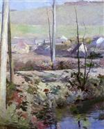 Theodore Robinson  - Bilder Gemälde - Giverny from the River Epte