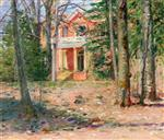 Theodore Robinson  - Bilder Gemälde - House in Virginia