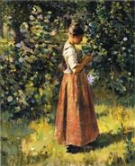 Theodore Robinson  - Bilder Gemälde - In the Grove