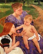 Mary Cassatt - paintings - The Family