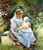 Theodore Robinson  - Bilder Gemälde - Mother and Child
