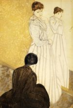 Mary Cassatt - paintings - The Fitting