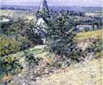 Theodore Robinson  - Bilder Gemälde - Old Church at Giverny