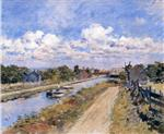 Theodore Robinson  - Bilder Gemälde - On the Canal