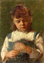 Theodore Robinson  - Bilder Gemälde - Portrait of a Young Girl