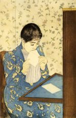 Mary Cassatt - paintings - The Letter