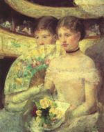 Mary Cassatt - paintings - The Loge