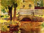 Theodore Robinson  - Bilder Gemälde - The Bridge at Giverny