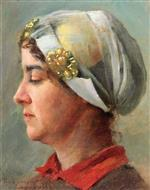 Bild:Woman with White Cap