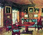 Stanislaw Julianowitsch Zukowski - Bilder Gemälde - A Room in an Old House
