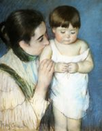 Mary Cassatt - paintings - Young Thomas And His Mother