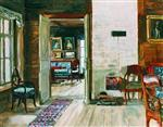 Stanislaw Julianowitsch Zukowski  - Bilder Gemälde - Interior of an Old House