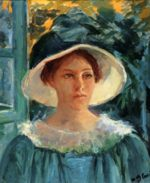 Mary Cassatt - paintings - Young Woman In Green, Outdoors In The Sun