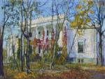 Stanislaw Julianowitsch Zukowski  - Bilder Gemälde - Manor House in Autumn