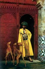 Jean Leon Gerome - paintings - An Arab and his Dogs