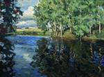 Stanislaw Julianowitsch Zukowski  - Bilder Gemälde - The River
