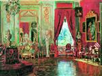 Stanislaw Julianowitsch Zukowski  - Bilder Gemälde - The Salon in Kuskovo
