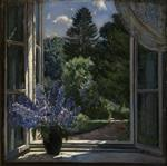 Stanislaw Julianowitsch Zukowski  - Bilder Gemälde - View from a Window
