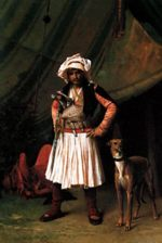 Jean Leon Gerome - paintings - Bashi Bazouk and his Dog