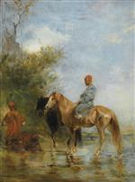 Bild:Horsemen by the River