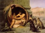 Jean Leon Gerome - paintings - Diogenes