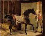 Jean Louis Theodore Gericault  - Bilder Gemälde - The Horse is out of the Stable