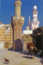 Jean Leon Gerome - paintings - A Hot Day in Cairo (In front of the Masque)