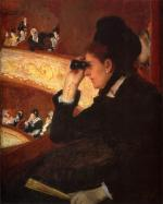 Mary Cassatt - paintings - At The Opera